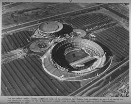 Oakland-Alameda County Coliseum complex wins an award from the American Society of Civil Engineers, 1967 Oakland Coliseum  Handout