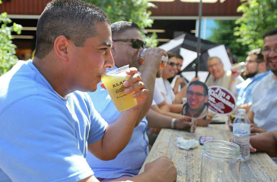 Eddie Ruiz enjoys a beer with family and friends during FatherFest 2016, benefiting Pints for Prostates, held Sunday June 19, 2016 at Alamo Beer Company. Photo: Edward A. Ornelas, San Antonio Express-News / © 2016 San Antonio Express-News