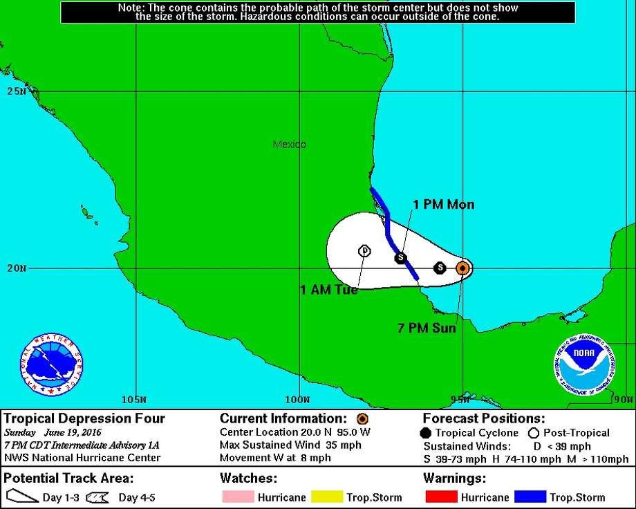 Hurricane storm center
