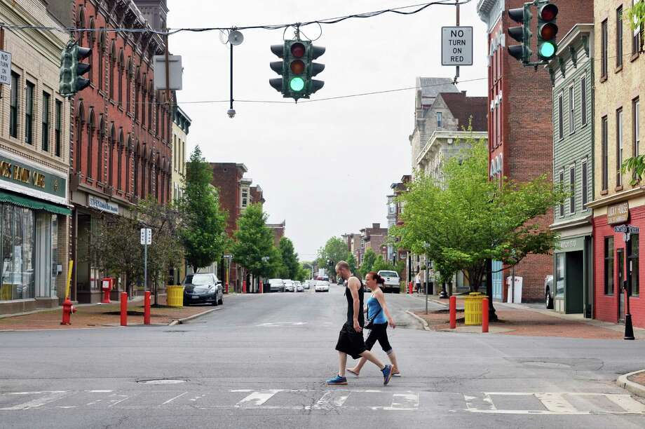 Cityscape looking south on Remsen Street at Ontario Street Friday May 27, 2016 in Cohoes, NY.  (John Carl D'Annibale / Times Union) Photo: John Carl D'Annibale / 20036773A
