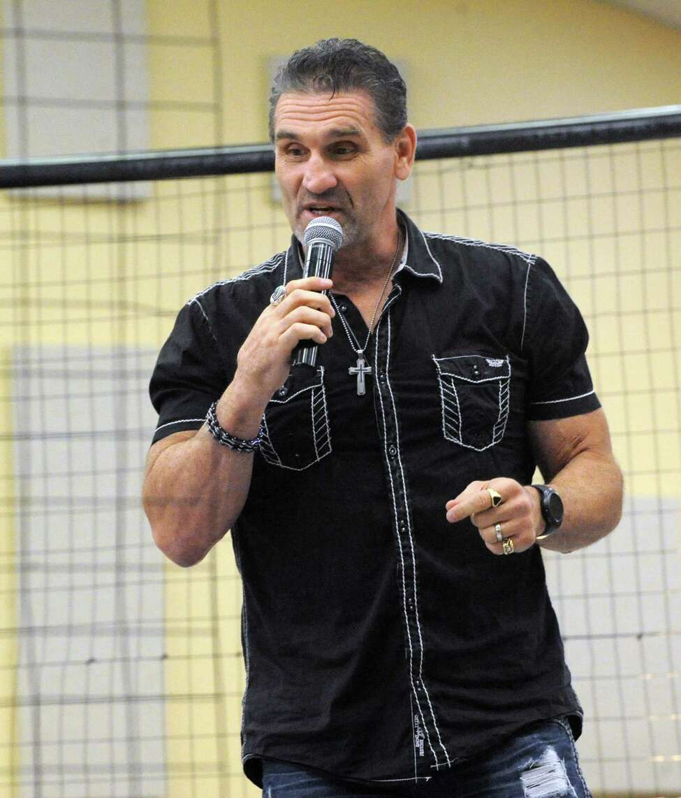 UFC legend Ken Shamrock speaks about his journey at the House of Praise on Sunday, June 19, 2016 in Castleton-On-Hudson, N.Y. After 20 years, New York has lifted the ban on Mixed Martial Arts. (Lori Van Buren / Times Union)