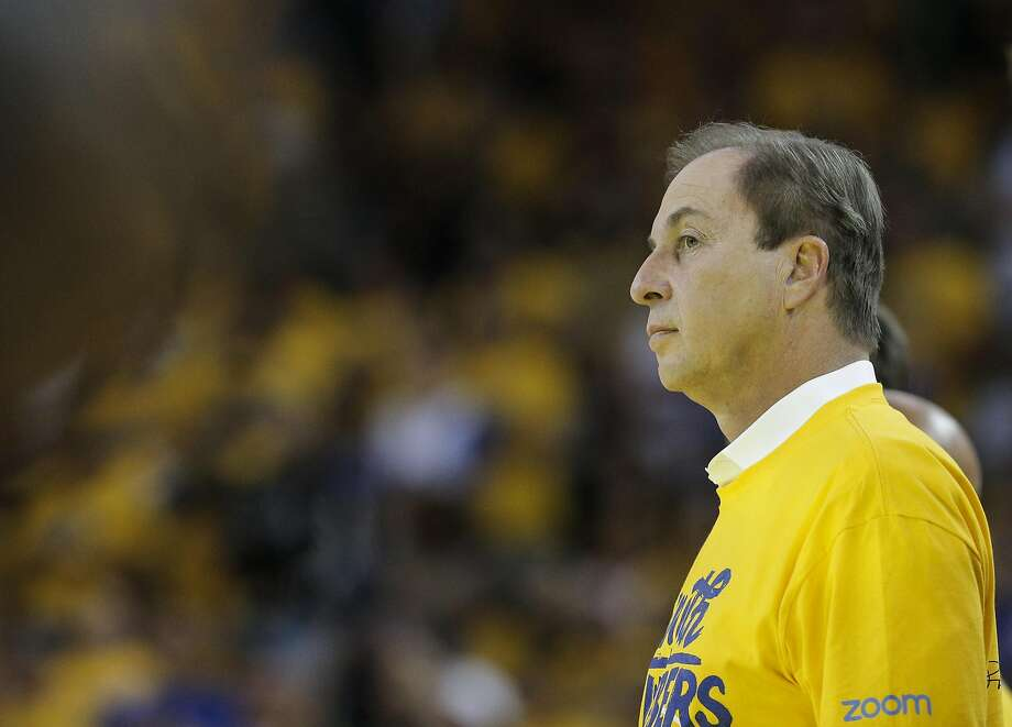 The Golden State Warriors' majority owner Joe Lacob watches the fourth quarter during Game 7 of the NBA Finals at Oracle Arena on Sunday, June 19, 2016 in Oakland, Calif. Photo: Carlos Avila Gonzalez, The Chronicle