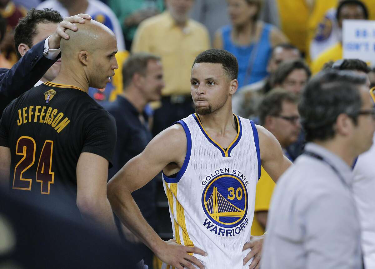 Golden State Warriors' Stephen Curry is seen after Game 7 of the NBA Finals at Oracle Arena on Sunday, June 19, 2016 in Oakland, Calif. The Cleveland Cavaliers defeated the Golden State Warriors 93 to 89 to win the NBA Championship.