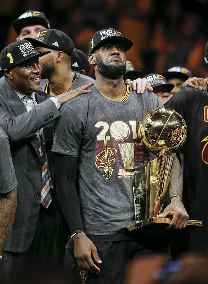 LeBron James already has his sights set on back-to-back titles in Cleveland. Photo: Carlos Avila Gonzalez, The Chronicle