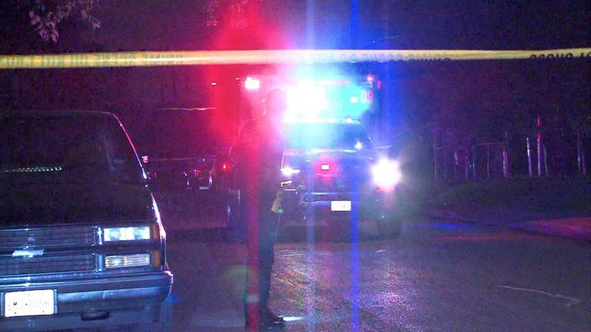 The gunman in a double shooting that left one man dead and another woman in critical condition remains at large. The man and woman were shot multiple times in front of a house in the 800 block of Canton early Monday morning.