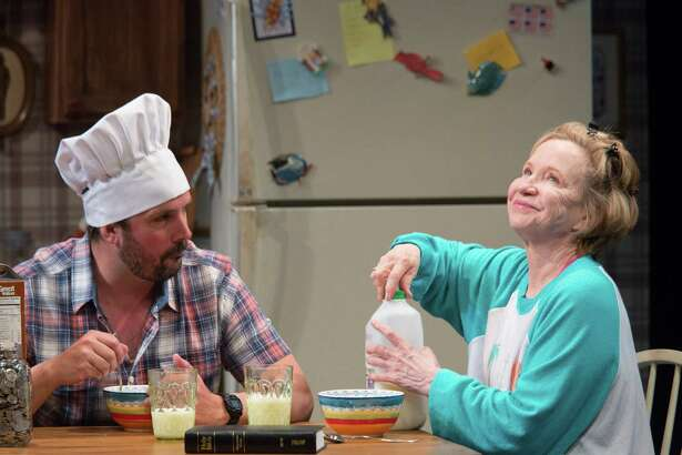 "Chris Thorn and Debra Jo Rupp in ""Kimberly Akimbo"" at Barrington Stage. (BSC publicity photo.)"