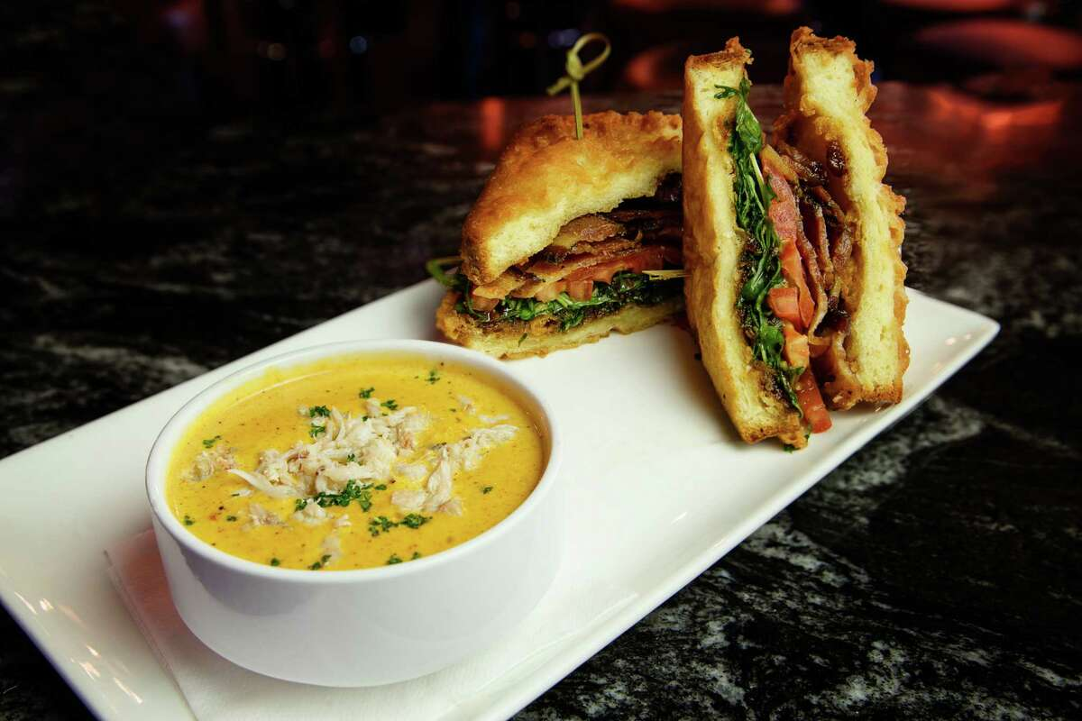 Revelry on Richmond, 1613 Richmond, has now added lunch service. Shown: The BAAT Sandwich (bacon, avocado, arugula and tomato) on Texas Toast.