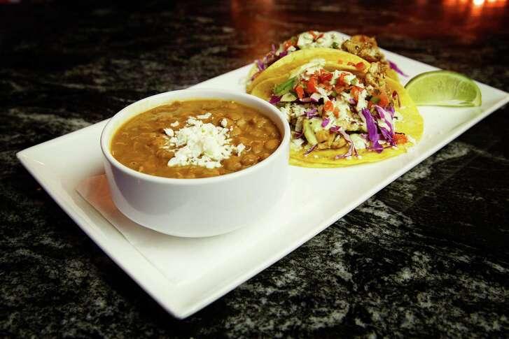 Revelry on richmond, 1613 Richmond, has now added lunch service. Shown: Chicken Fajita Tacos.