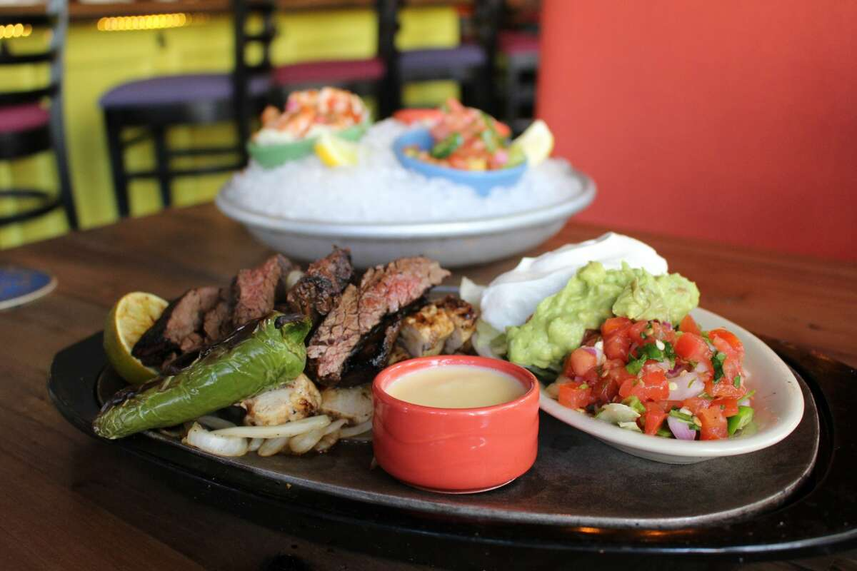 Beef and chicken fajitas atTaquilo's, which is now open at 2101 Postoffice St. in Galveston.