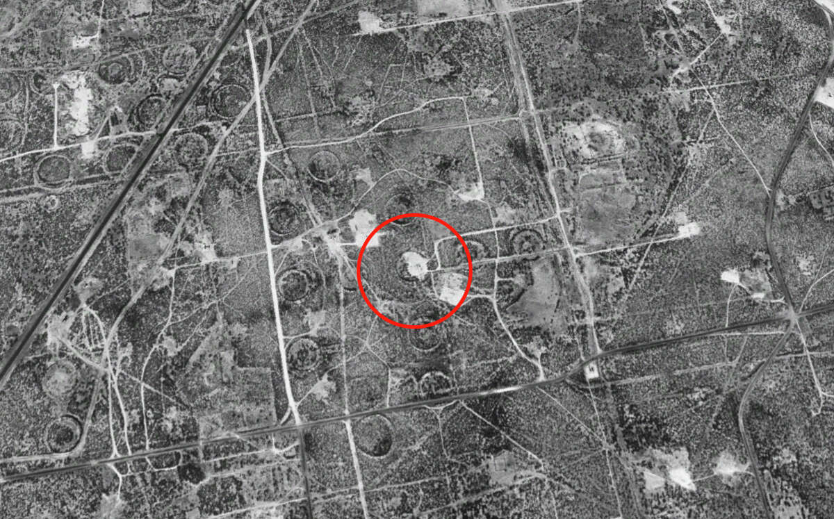 On January 11, 1996, the Wink 2 sinkhole is not even visible on satellite imagery.