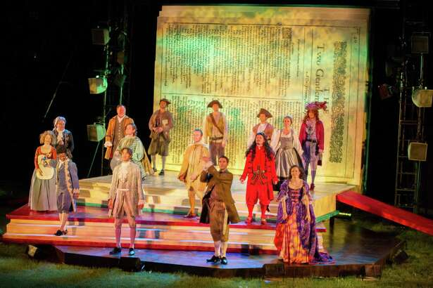 """Shakespeare's masterwork, """"Hamlet"""" comes to Norwalk's Pinkney Park through July 3 presented by Shakespeare on the Sound. Above is a photo from a previous production."""