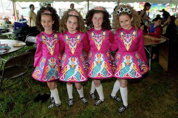 The Connecticut Irish Festival takes place Saturday, June 25, and Sunday, June 26, at the fairgrounds in North Haven. Highlights include an old-fashioned outdoor Feis (pronounced Fesh) where costumed dancers compete in jigs, reels, hornpipes, and more. Seen here are dancers from the Lenihan School of Irish Dance in Monroe.