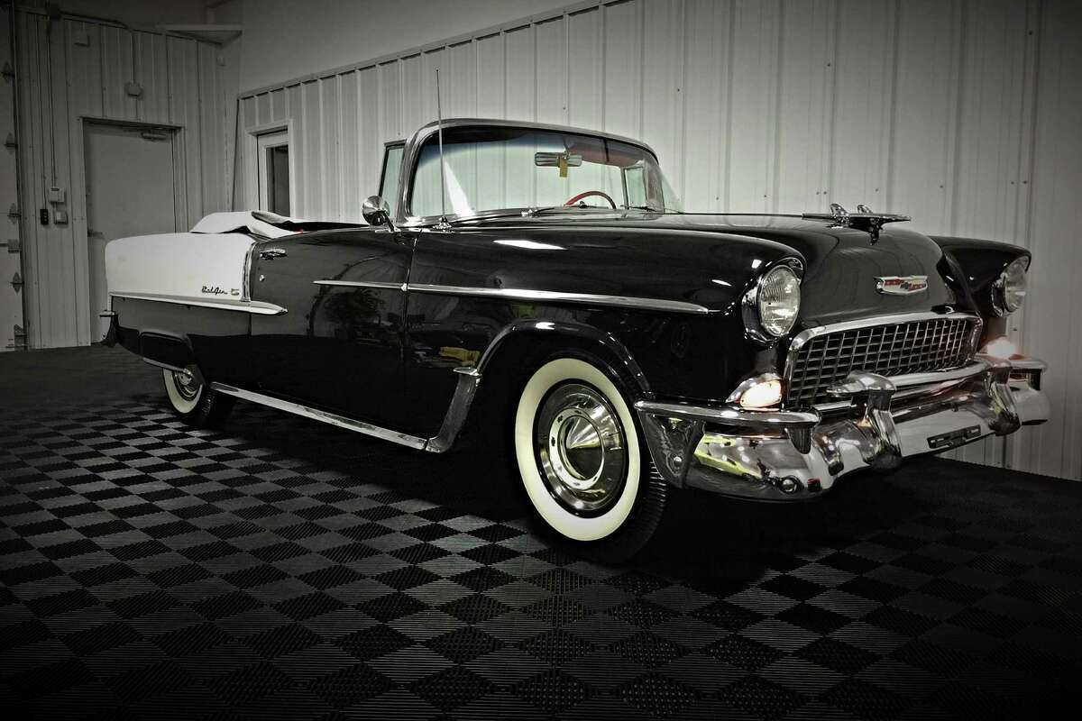 1955 CHEVROLET BEL AIR CONVERTIBLE-Beautiful frame-off restoration finished in its original 1955 Chevy color combination. It has the correct 1955-only 265ci engine with automatic transmission.