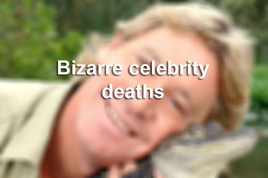 Scroll ahead to see bizarre celebrity deaths from choking on the cap to a bottle of eye drops or taking a stingray barb to the heart.