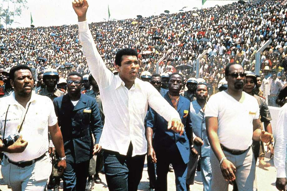 A scene from the award winning movie When We Were Kings shows Muhammad Ali basking in the adulation of fans before his legendary fight with George Foreman. Photo: Contributed Photo