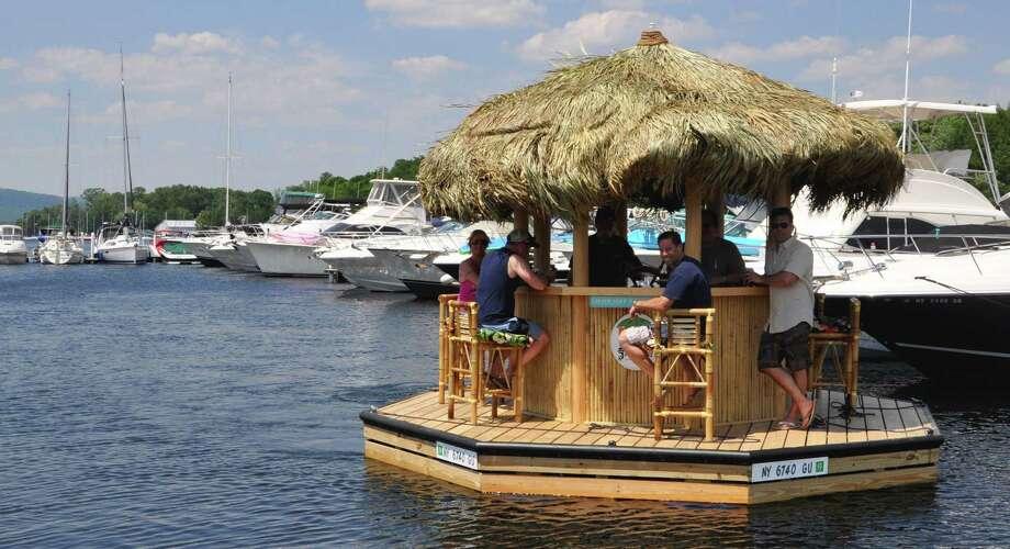 Lake George Gets A Floating Tiki Bar Times Union