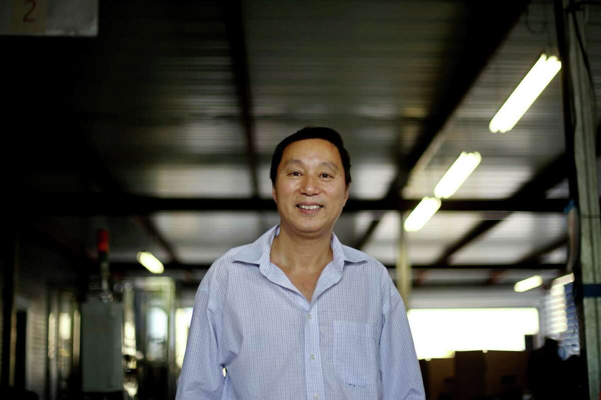 Jude Shao, CEO, at American Energy Products Company, Friday, June 10, 2016, in Houston, Texas. American Energy manufactures butane canisters for Coleman and Sky Blue, their own brand name. ( Gary Coronado / Houston Chronicle )