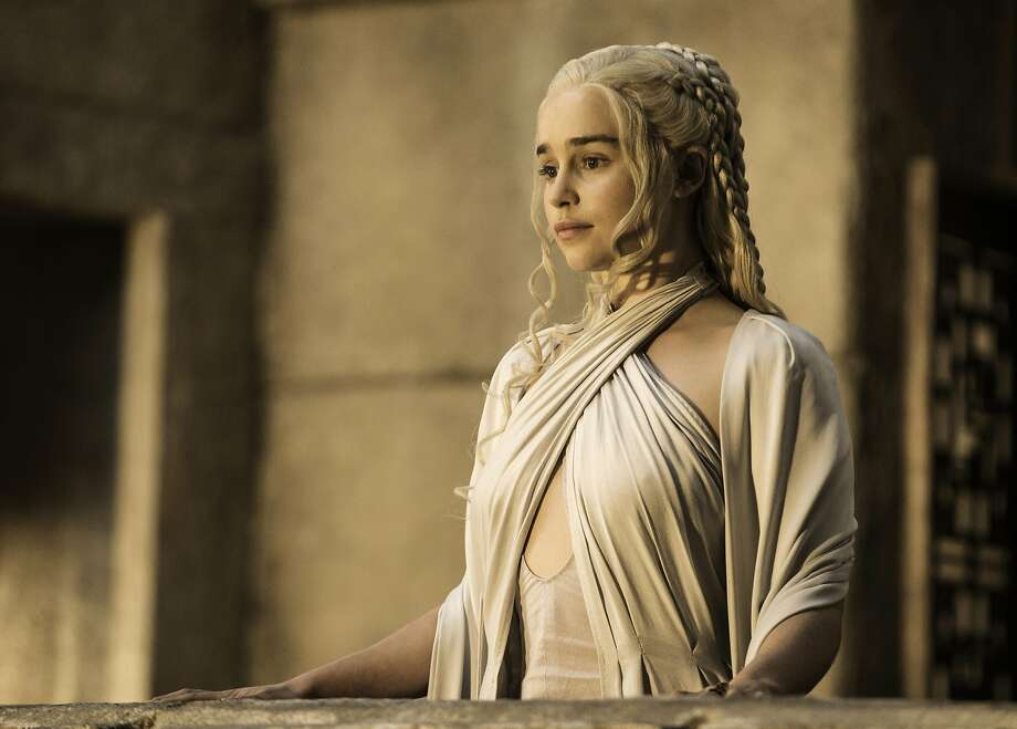 Emilia Clarke as Daenerys Targaryen in 'Game of Thrones.' The HBO show led the Emmy's with 23 nominations. Photo: Helen Sloan, HBO