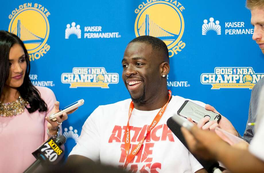 Golden State Warrior Draymond Green during a press conference. Photo: Noah Berger, Special To The Chronicle