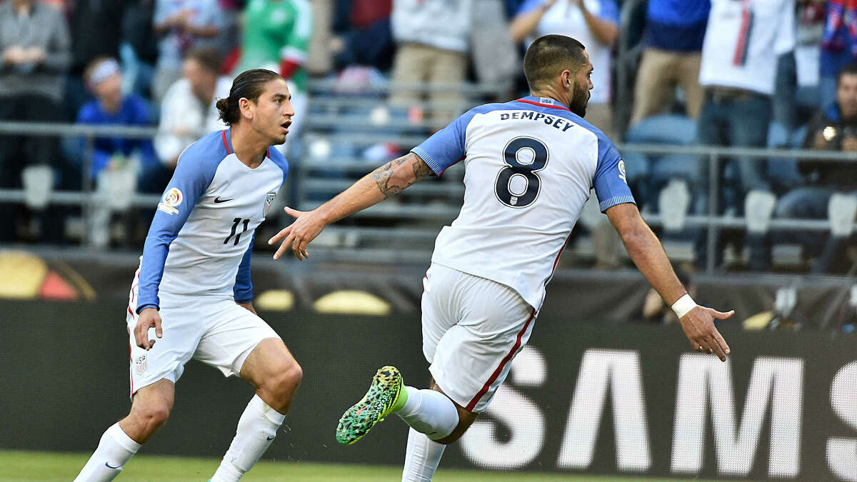 #9. Clint Dempsey is the edgy leader American Soccer needs. When U.S. Men's Team manager, Jürgen Klinsmann controversially left U.S. Soccer icon Landon Donovan off of the men's team roster in 2014, many questioned who would step up as the leader of the U.S. Men's Team. Fast forward to 2016. Seattle Sounders' superstar Clint Dempsey has answered the call. Dempsey has experienced various levels of success both in American soccer and in England, but his most recent run as an emotional leader and goal scoring sharpshooter for the United States has given supporters reason to be excited. Dempsey scored his 50th and 51st International goals in this tournament against Costa Rica and Paraguay. Still not convinced? (Getty Images)