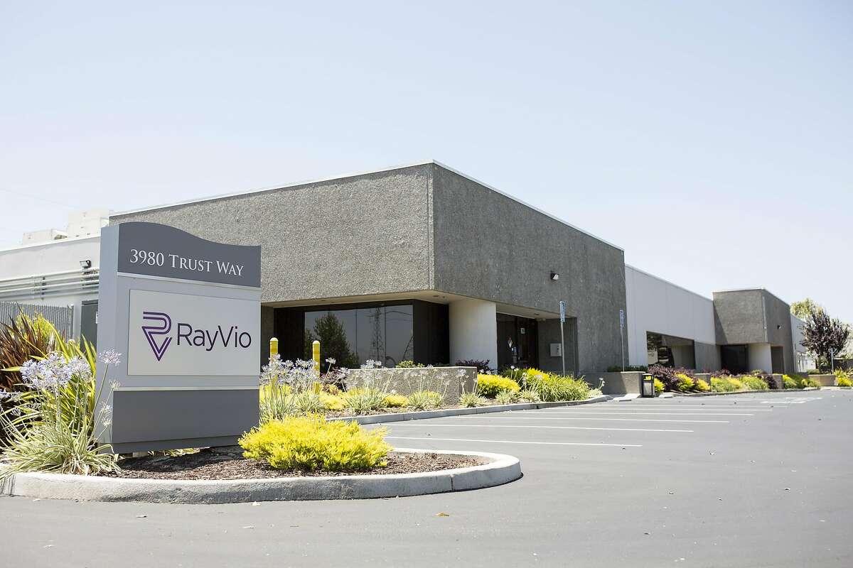 The office of RayVio is seen in Hayward, Calif., on Sunday, June 12, 2016.