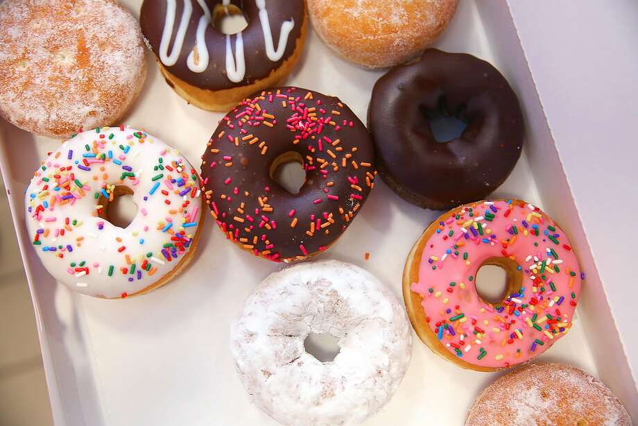 A box of a variety of donuts at Dunkin' Donuts on Monday, June 20, 2016, in Walnut Creek, Calif..   The Bay Area's very first Dunkin' Donuts shop is opening on Wednesday. Photo: Liz Hafalia, The Chronicle