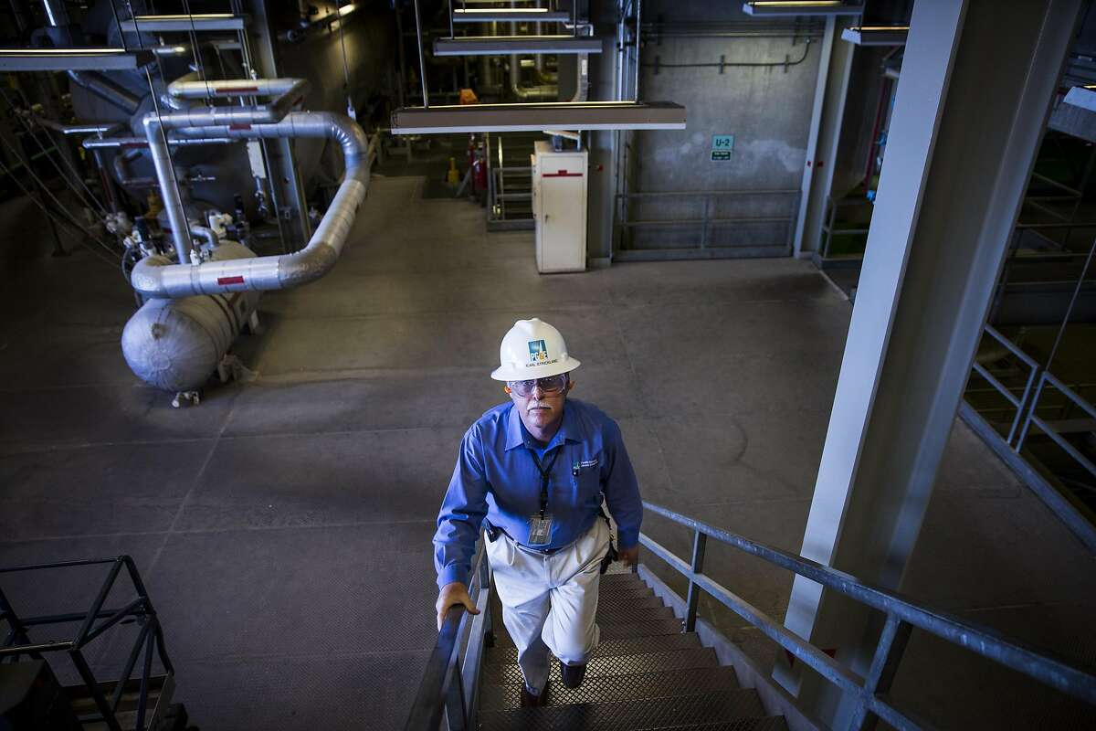 Monday August 24, 2015 Jearl Strickland director of Director Technical Services at Pacific Gas and Electric Company Diablo Power Plant walks us through the electricity generating Turbine Deck, located in the Diablo Canyon Power Plant in San Luis Obispo County, Calif. (Nancy Pastor/For the San Francisco Chronicle)