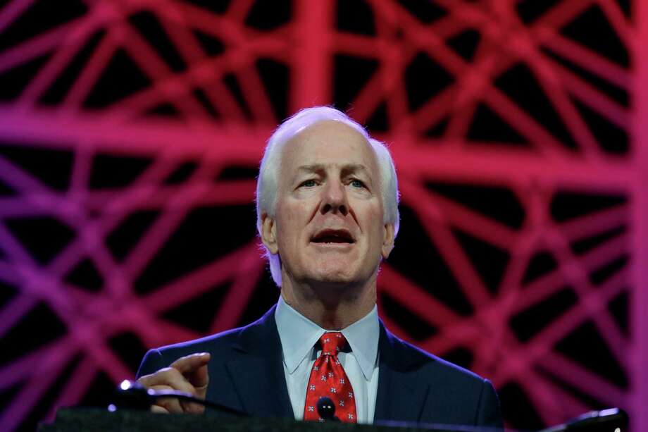 Sen. John Cornyn, R-Texas, speaks during the general session of the Texas Republican Convention Friday, May 13, 2016, in Dallas. (AP Photo/LM Otero) Photo: LM Otero, STF / Copyright 2016 The Associated Press. All rights reserved. This material may not be published, broadcast, rewritten or redistribu
