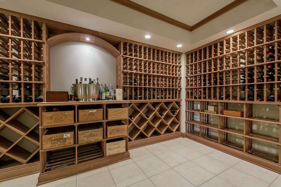 The wine cellar of this home on the market at 64 Lyons Plains Road. Photo: Contributed / Contributed Photo / Westport News