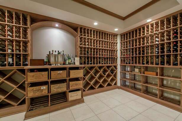 The wine cellar of this home on the market at 64 Lyons Plains Road.