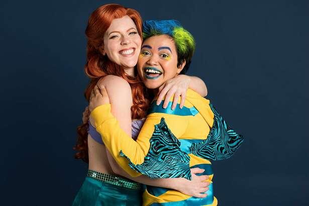 Ariel�(Andrea Dennison Laufer)�and Flounder�(Aubri No'Eau Kahalekulu) are best buds.