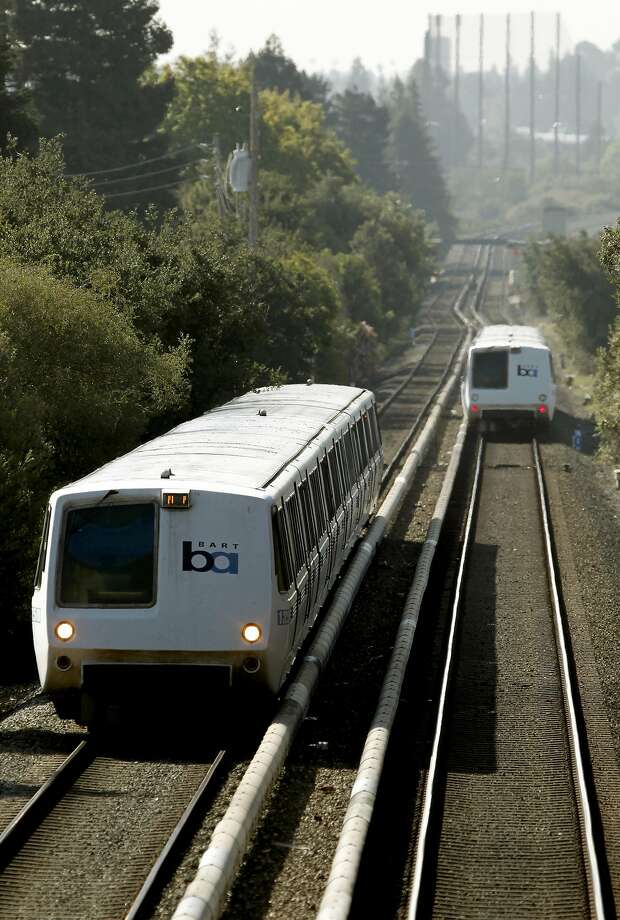A small plane crashed onto BART tracks in Hayward on June 19. Federal Aviation Administration records list Robert E. Pursel Jr. as the registered owner of the plane. Photo: Michael Macor, The Chronicle