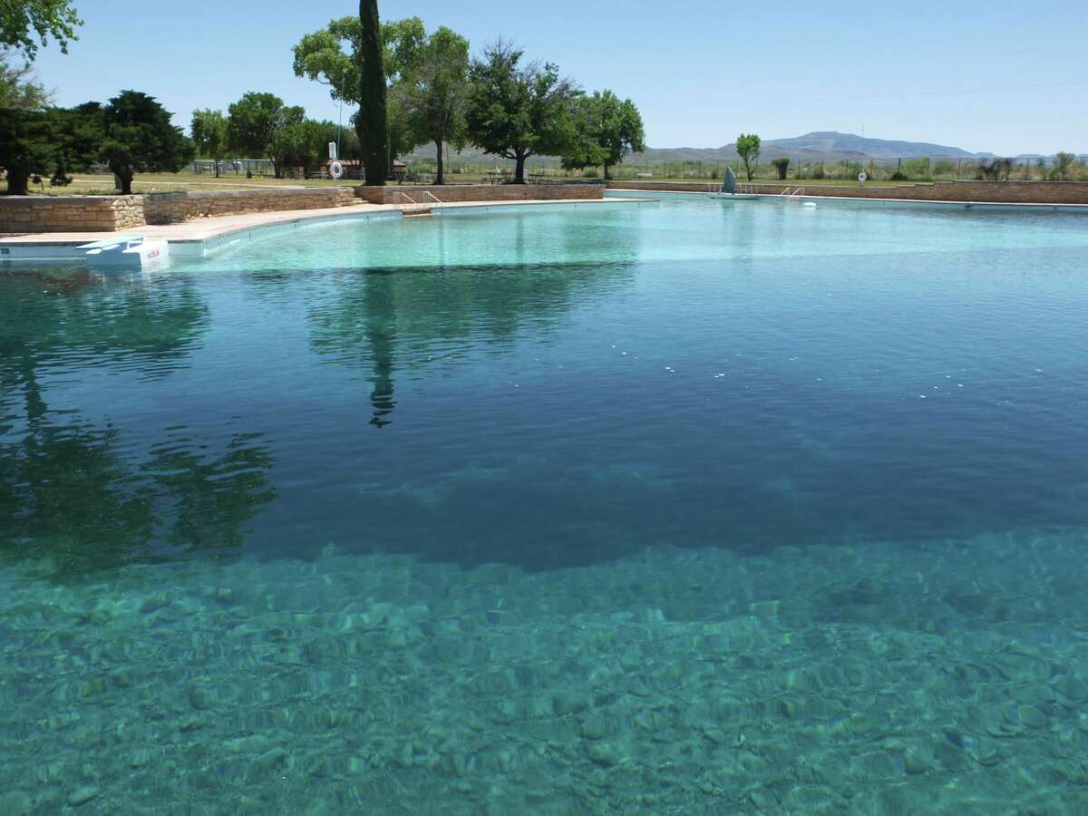 The world's largest spring-fed swimming pool is at the historic Balmorhea State Park.