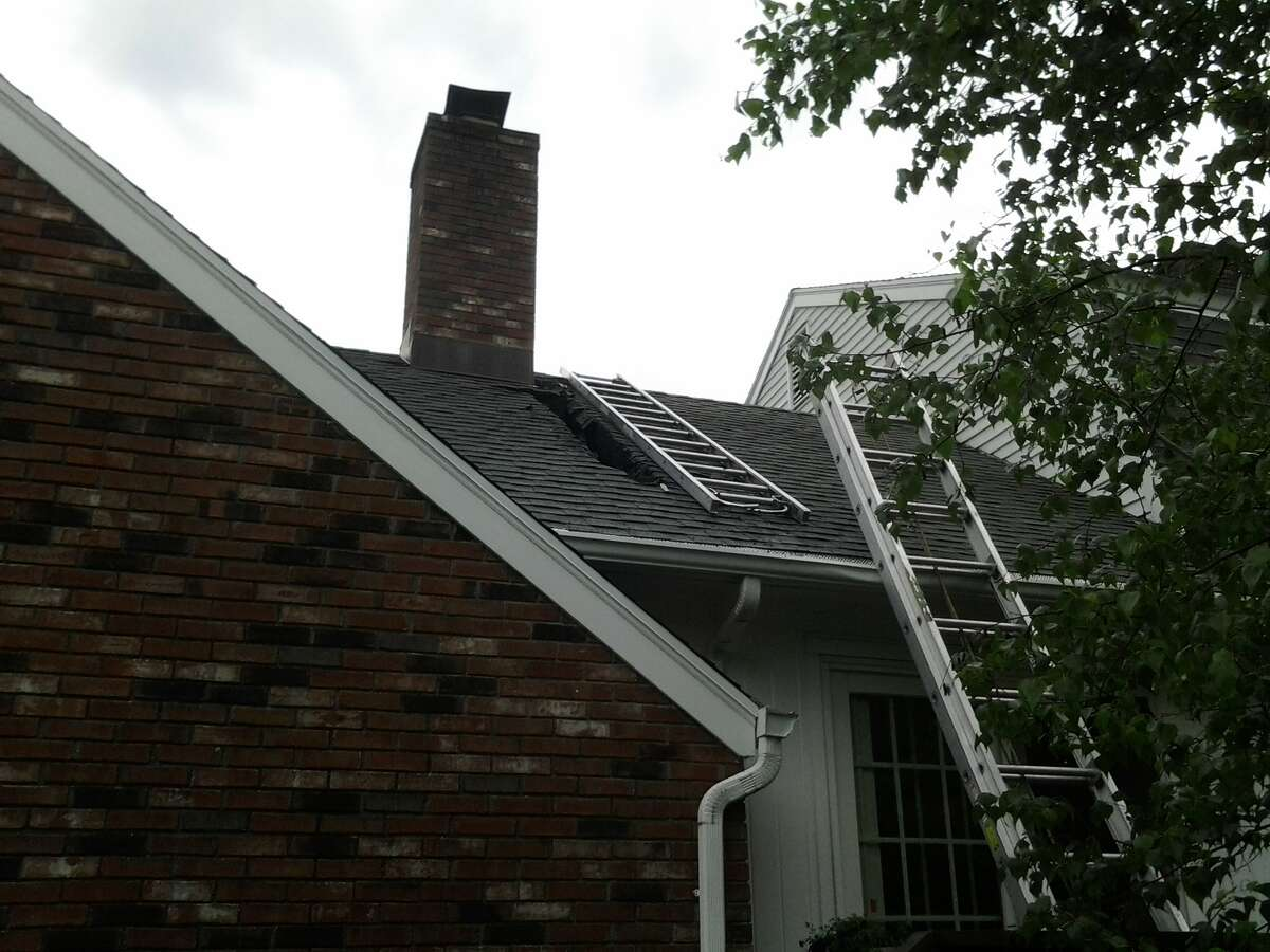 Firefighters say the likely cause of a fire on Thornridge Drive in North Stamford early Tuesday morning was a lightning strike.