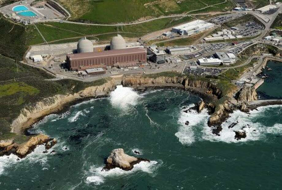 An aerial view of the Diablo Canyon Nuclear Power Plant on the edge of the Pacific Ocean near San Luis Obispo. Photo: MARK RALSTON, AFP/Getty Images