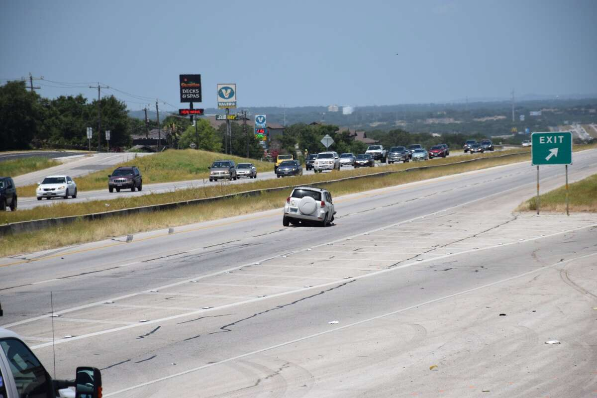 The westbound lanes of Loop 1604 have been completely shut down on the Northeast Side following a rollover crash on Tuesday, June 21.