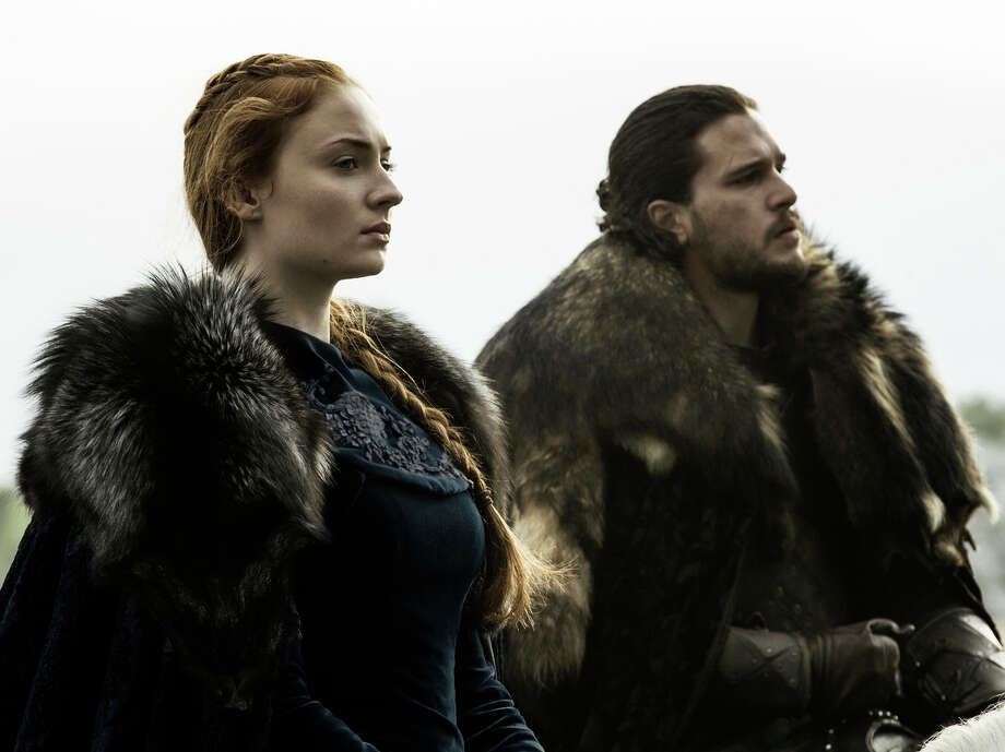 """Sophie Turner and Kit Harington of """"Game of Thrones,"""" whose sixth season ends Sunday on HBO."""