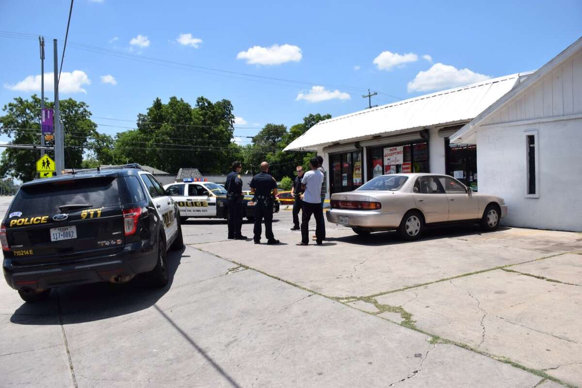 San Antonio police investigate a shooting on the East Side June 21, 2016.
