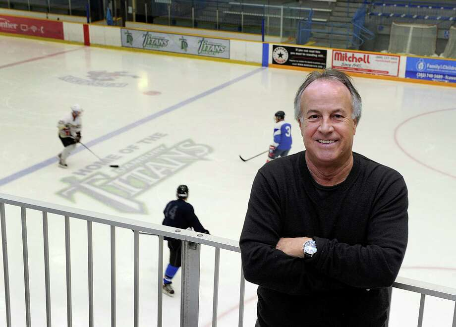 Bruce Bennett, owner of the Titans hockey team, Friday, May 6, 2016. Photo: Carol Kaliff / Hearst Connecticut Media / The News-Times