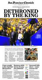 The San Francisco Chronicle's front page on Monday, June 20 after the Warriors lost in the NBA title game.