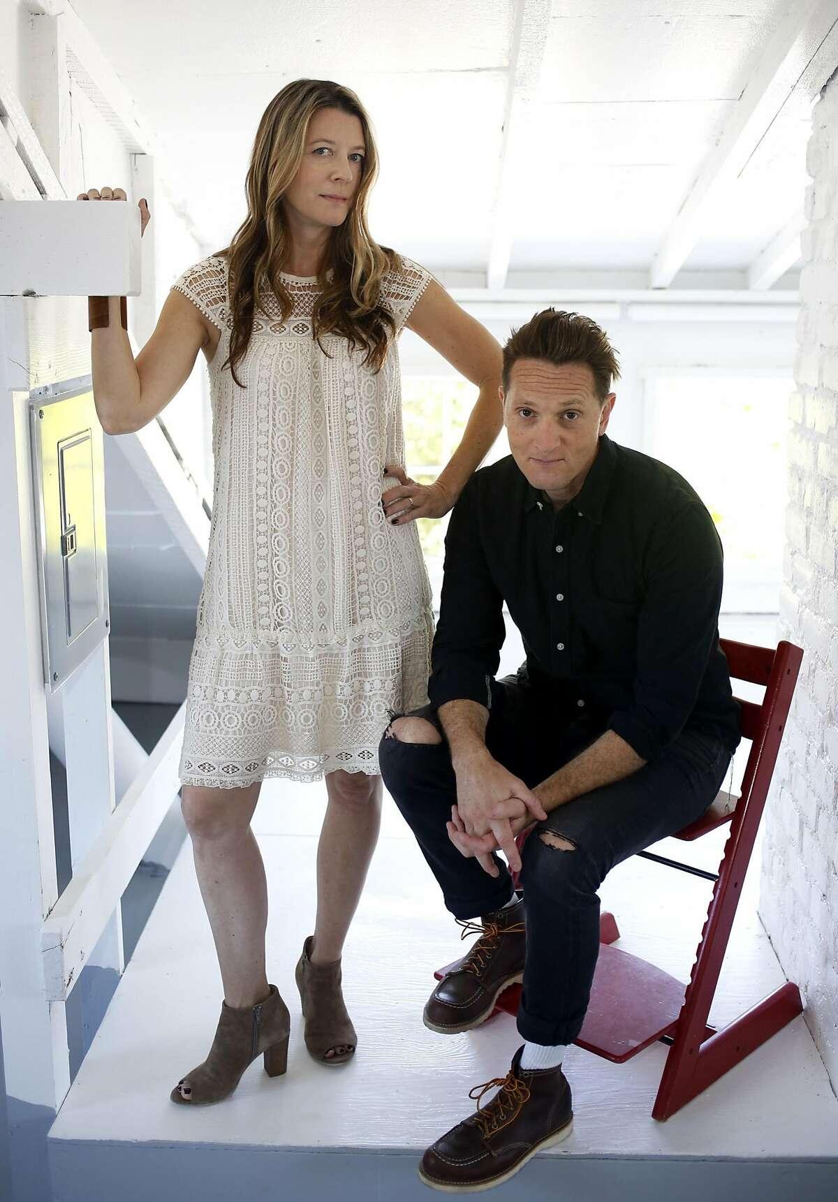 Phyllis Grant and Matt Ross at home in Berkeley.