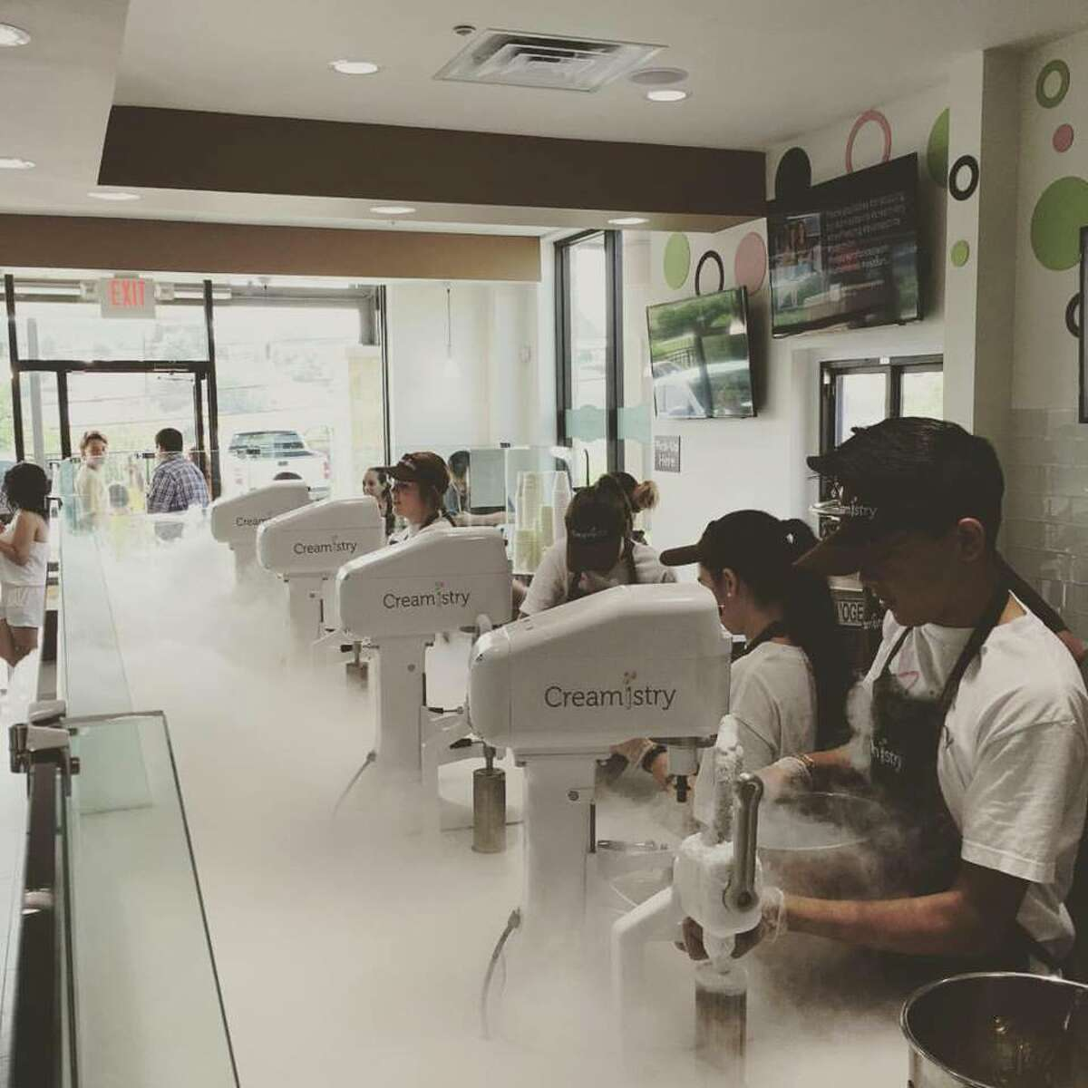 California-based Creamistry, an ice cream joint which uses liquid nitrogen, expanded into Texas making its first stop in San Antonio on June 18, 2016 at 21134 U.S. Highway 281 North.