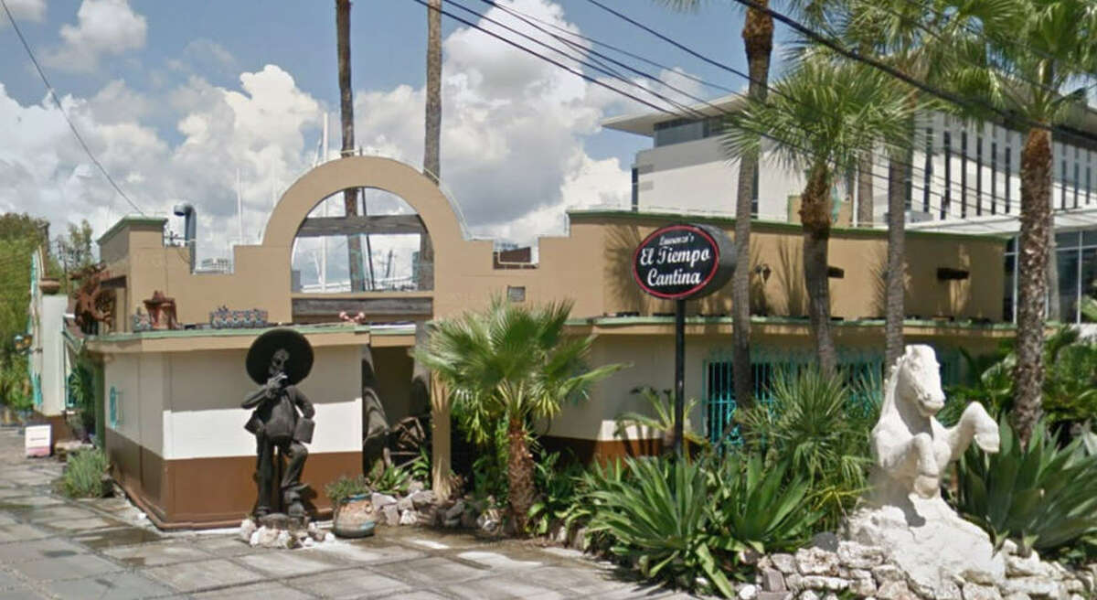 El Tiempo Cantina Address: 3130 Richmond, Houston, Texas 77098 Demerits: 19 Inspection highlights: Guacamole, bacon and cheese held at an improper temperature. Observed hotel-pan containing rice stored on floor of walk-in refrigerator. Observed build-up of accumulated food residue on walk-in refrigeration shelving.