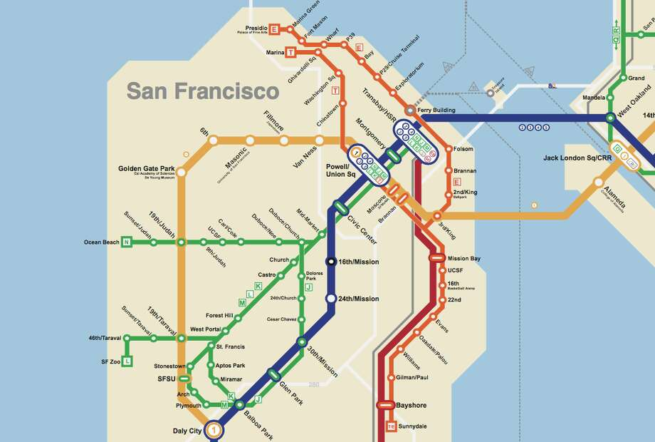 What the city would look like with a second transbay tube line.