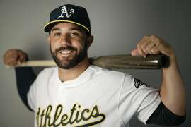 This is a 2016 photo of Andrew Lambo of the Oakland Athletics baseball team. This image reflects the Oakland Athletics active roster as of Monday, Feb. 29, 2016, when this image was taken. (AP Photo/Chris Carlson)
