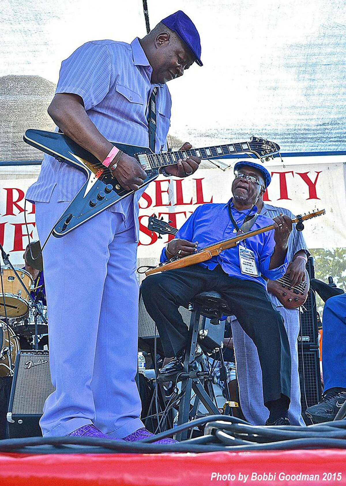 Carl Weathersby and Ronnie Stewart at Hayward Russell City Blues Festival