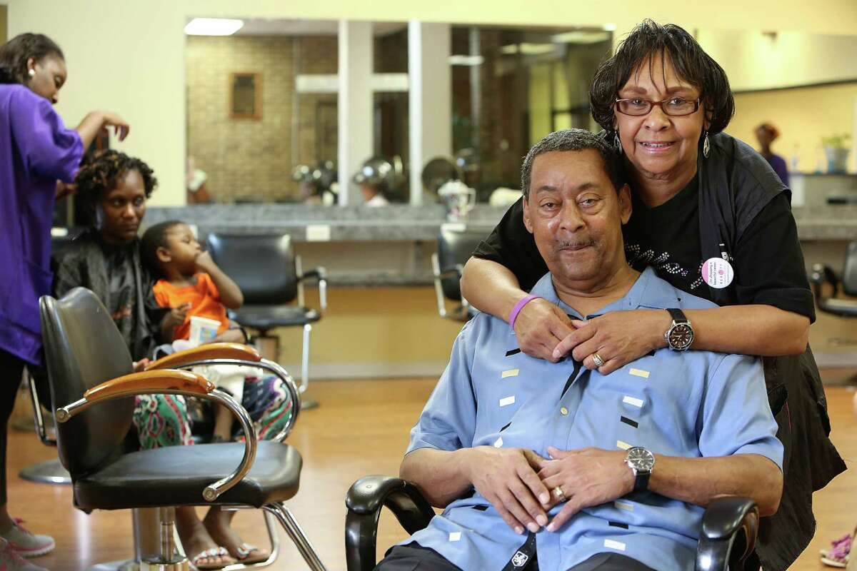 Ron Jemison Sr., with his wife, Glenda, still runs the south Houston campus of the Franklin Beauty School founded in 1915 by his grandmother, Madame N.A. Franklin.