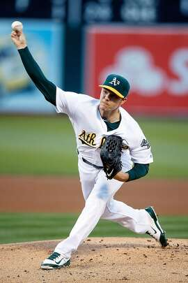 OAKLAND, CA - JUNE 21:  Sonny Gray #54 of the Oakland Athletics pitches against the Milwaukee Brewers during the first inning at the Oakland Coliseum on June 21, 2016 in Oakland, California. (Photo by Jason O. Watson/Getty Images)