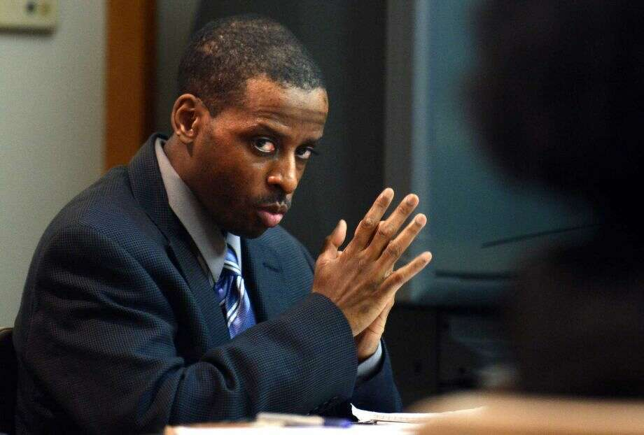 "Russell Peeler: Convicted and sentenced to life in prison for ordering the murder of Karen Clarke and her eight-year-old son, Leroy ""B.J."" Brown Jr., in their Bridgeport, Conn. home in 1999. (Photo: Autmn Driscoll)"