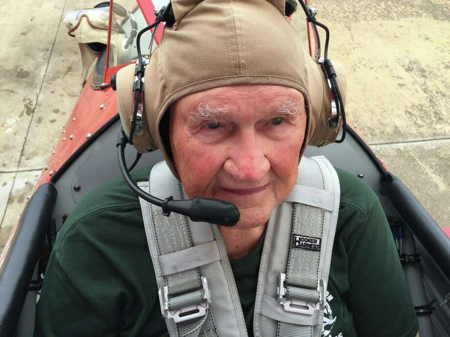 Delmar Jones, 91, flew a plane because of the Ageless Aviation Dreams Foundation. Photo: Courtesy